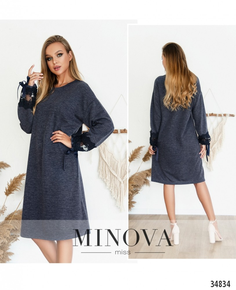 Платье №3128Н-темно-синий