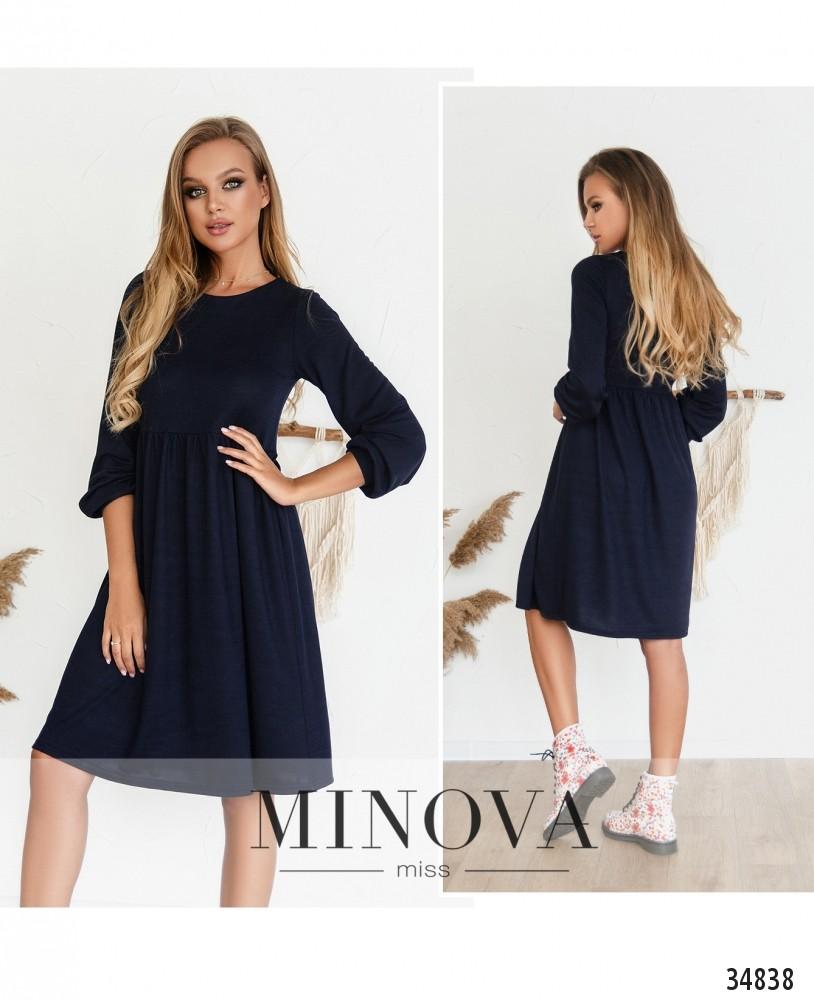 Платье №3129Н-темно-синий