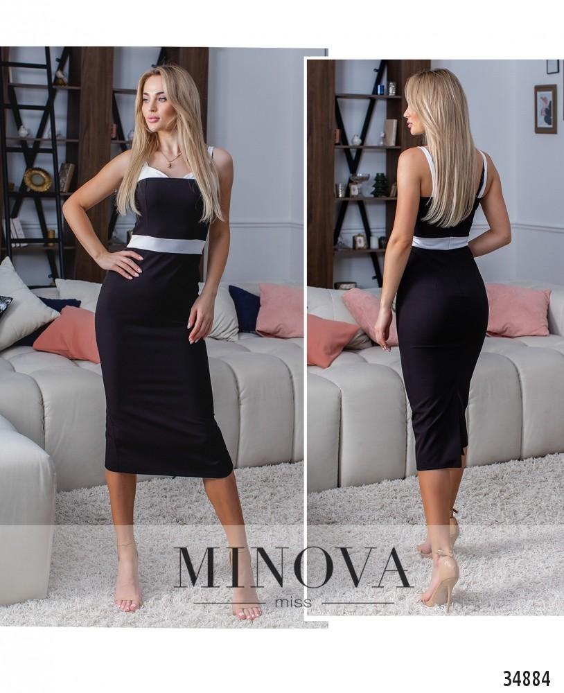 Платье №1384-черный