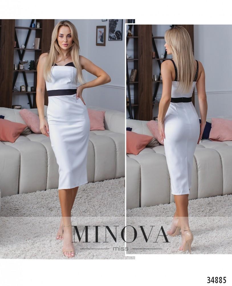 Платье №1384-белый