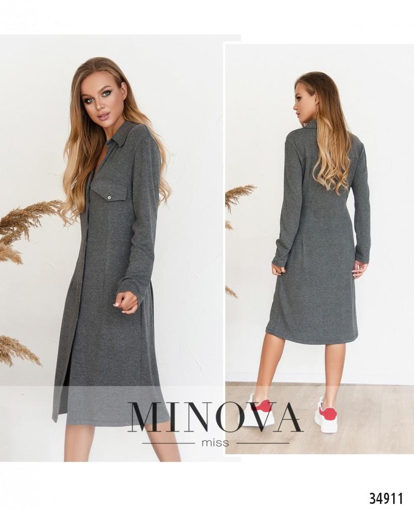 Платье №5186.18Н-серый