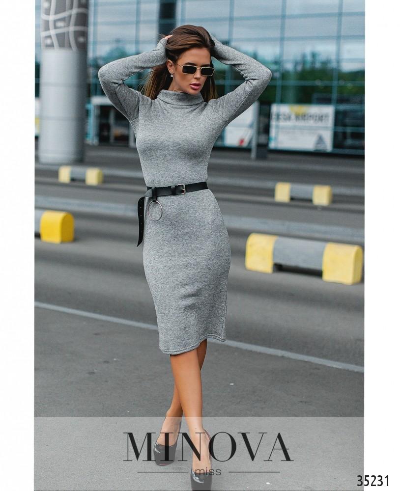 Платье №1239-серый