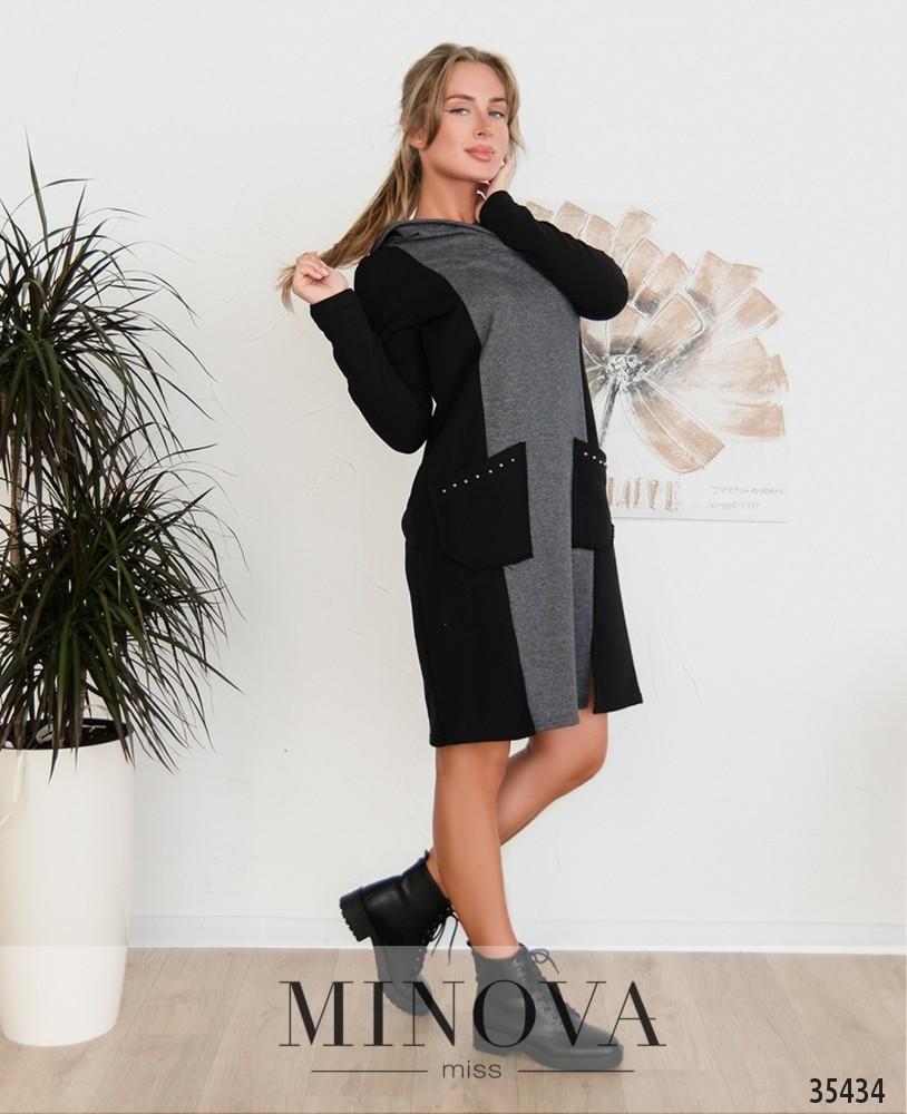 Платье №4111-2-черный