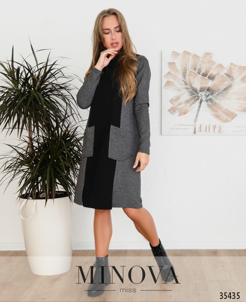 Платье №4111-2-серый
