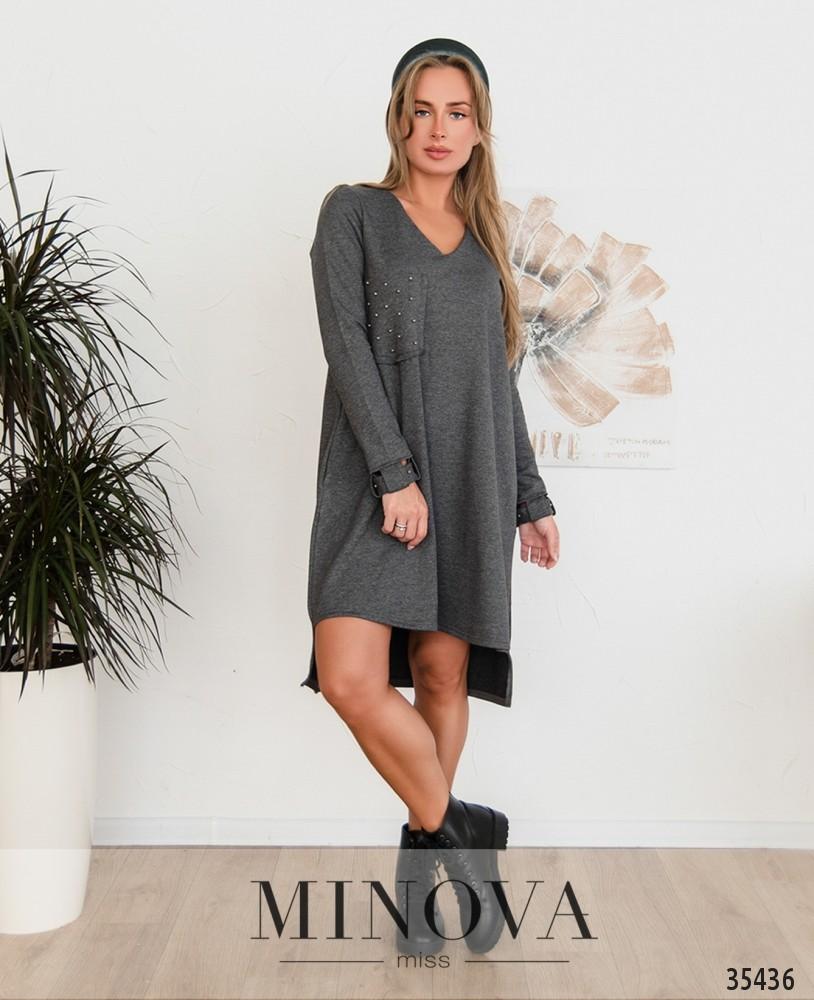 Платье №4112-1-серый