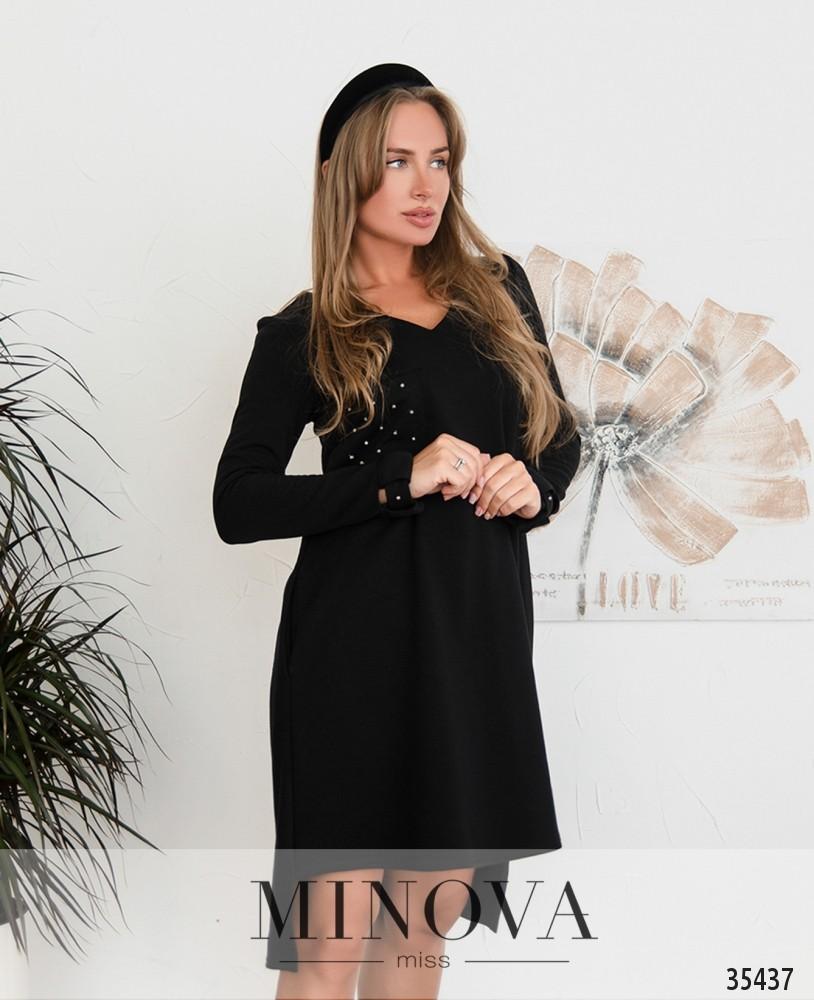 Платье №4112-1-черный