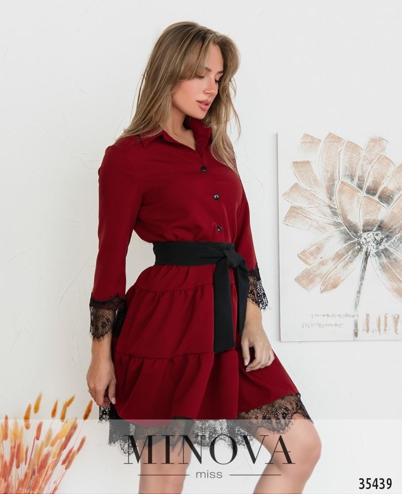 Платье №3019-рубиновый