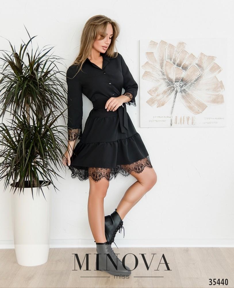 Платье №3019-черный