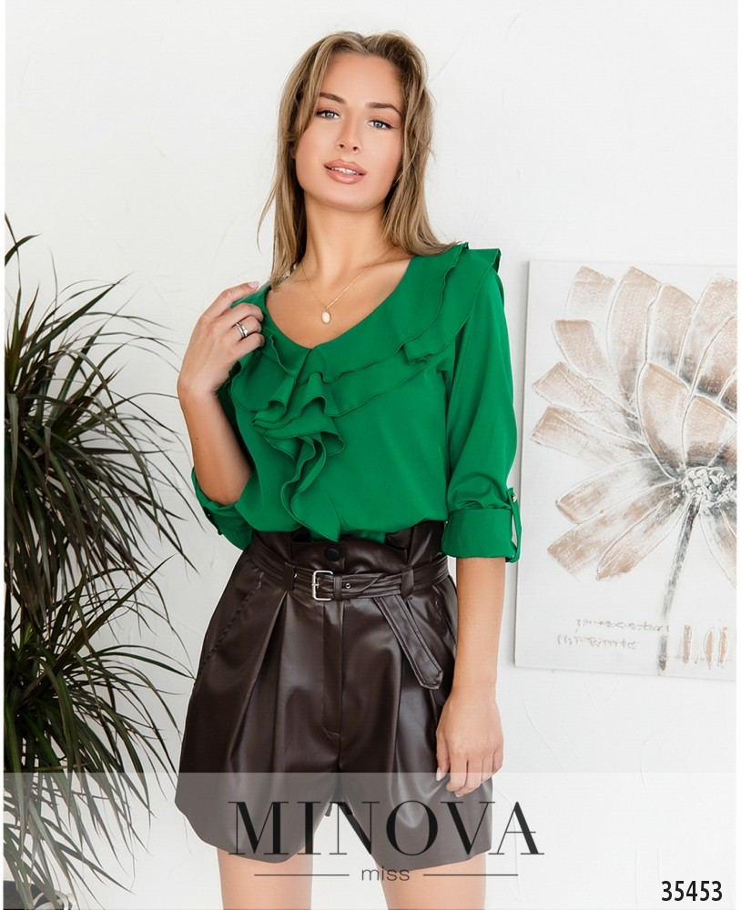 Рубашка №159-2-зеленый