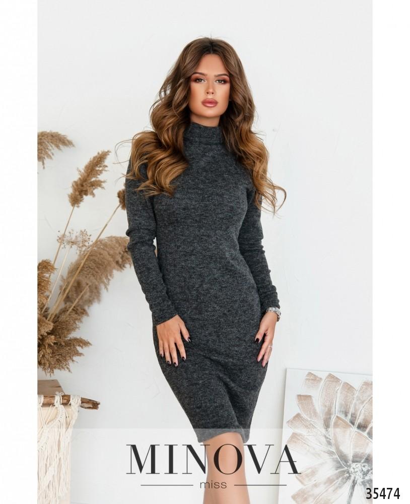 Платье №5188.21-серый