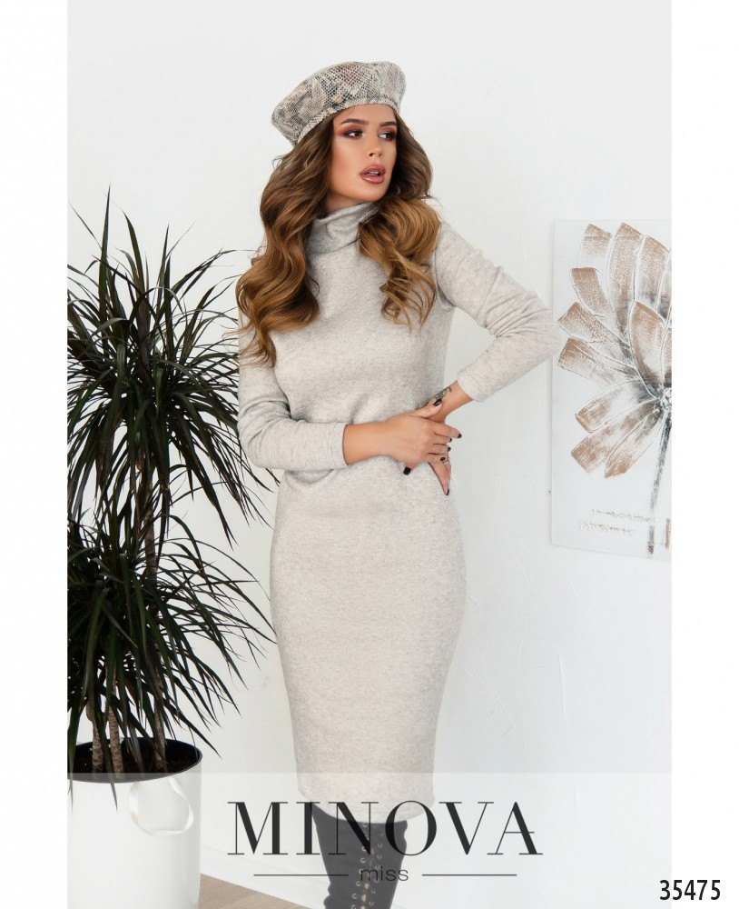 Платье №5188.21-бежевый
