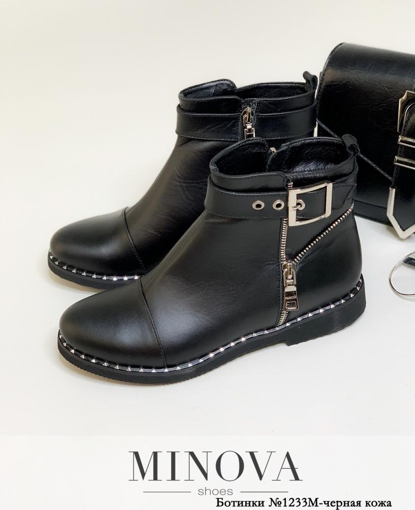 Ботинки ЦГ№1233М-черная кожа