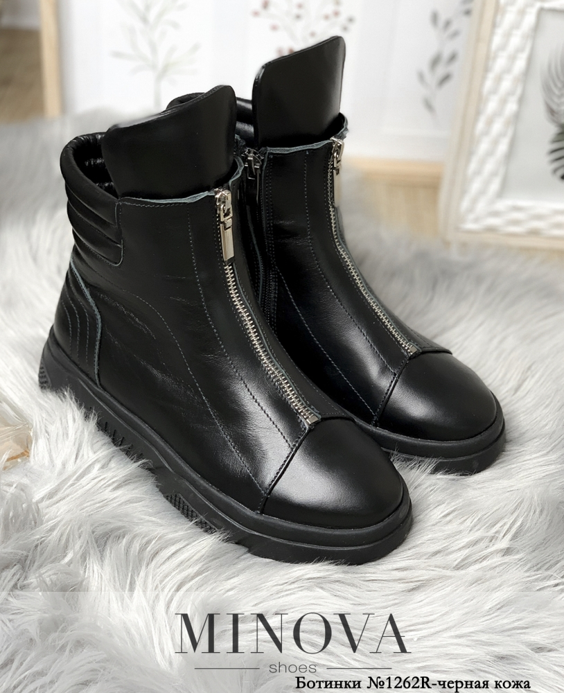 Ботинки ЦГ№1262R-черная кожа