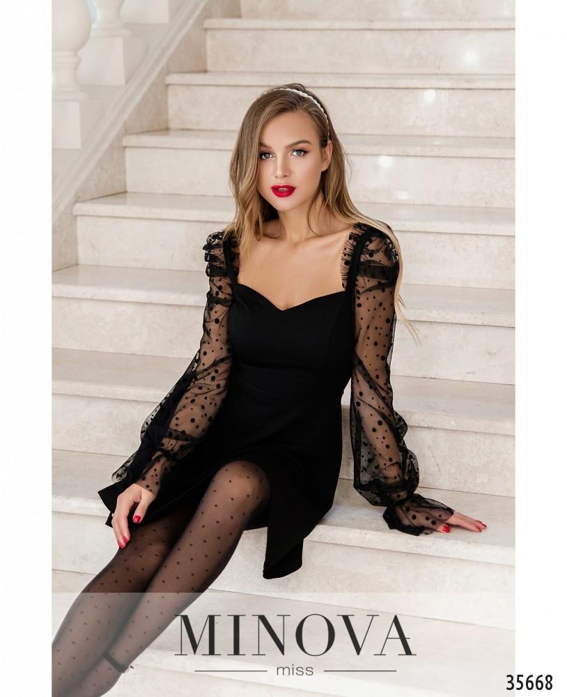 Платье №1877-черный