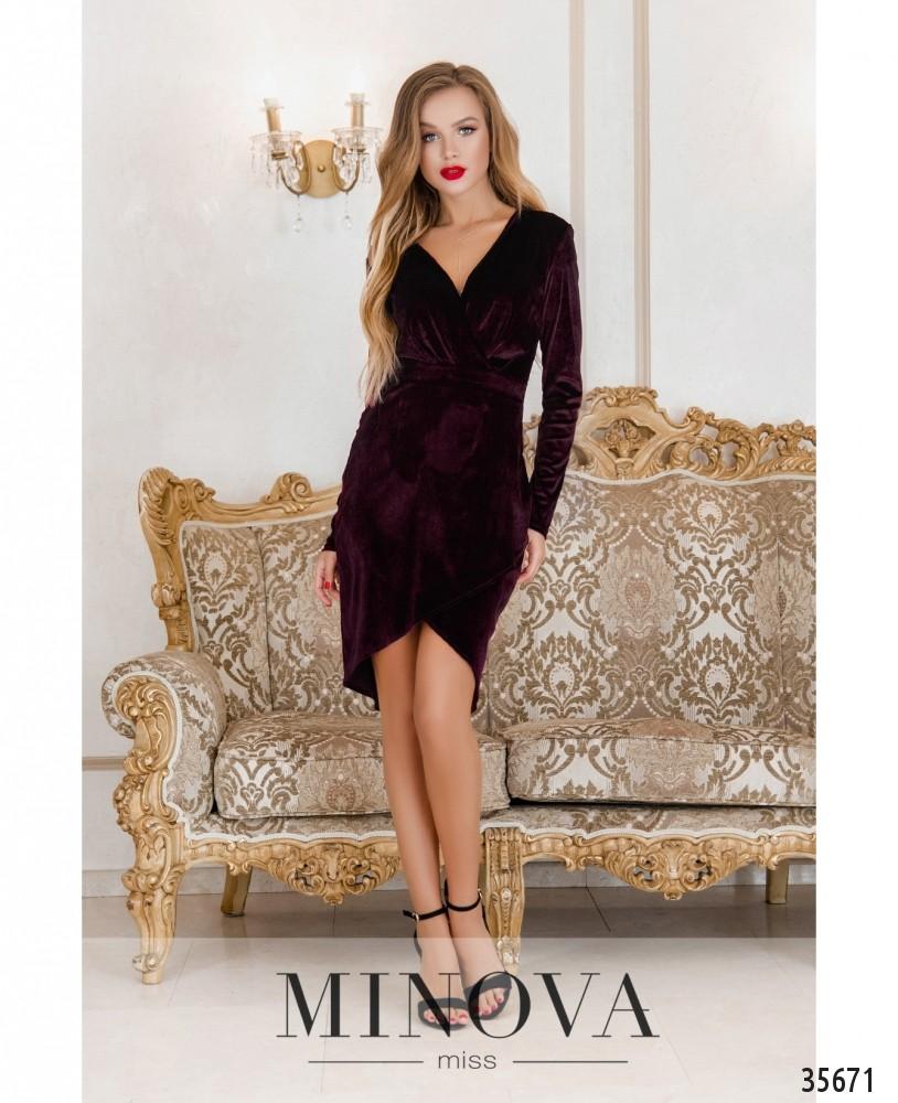 Платье №15451-бордо