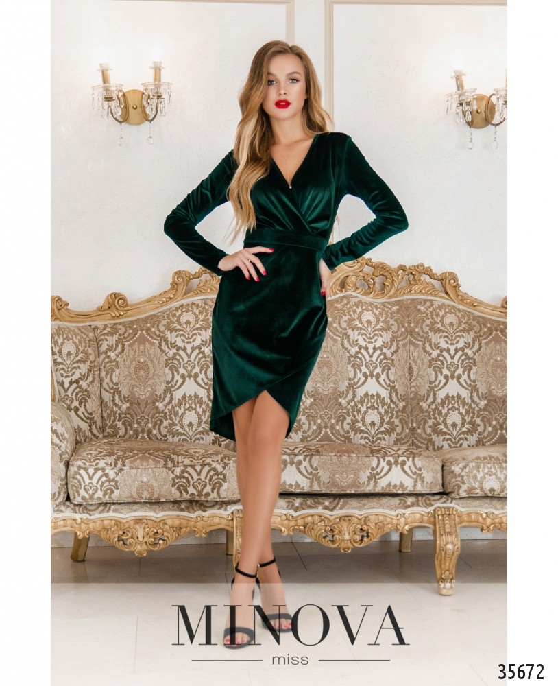 Платье №15451-темно-зеленый