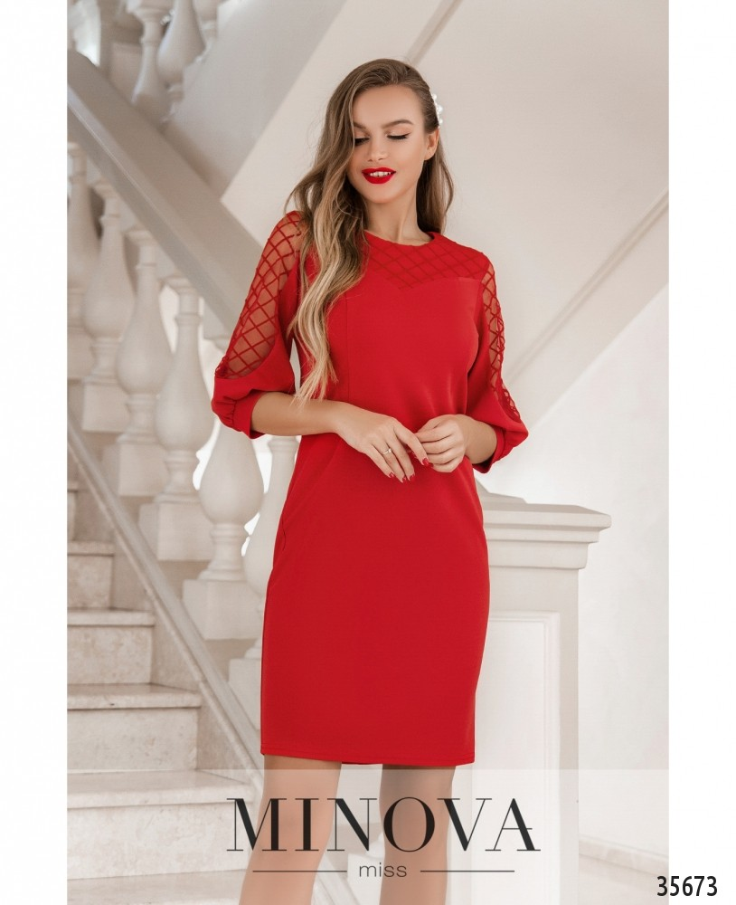 Платье №4122-1-красный