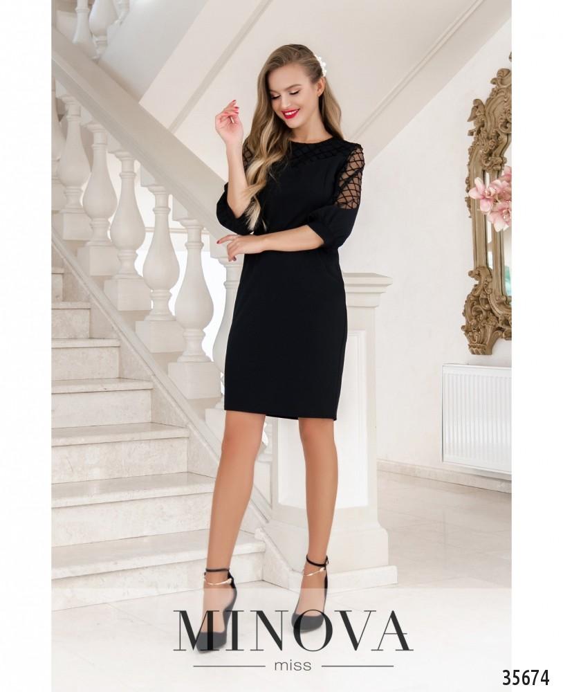 Платье №4122-1-черный