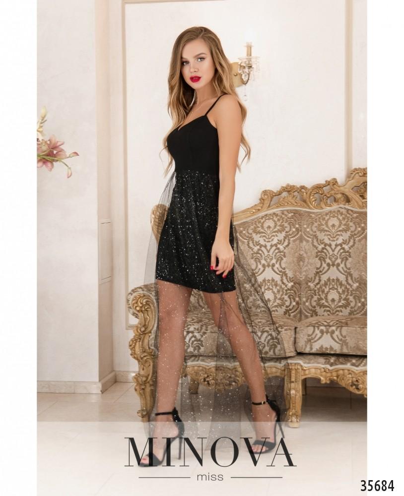 Платье №1883-черный