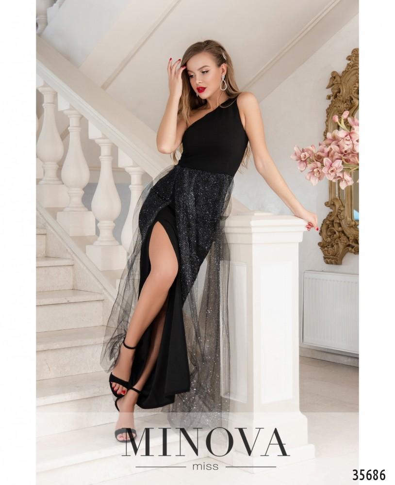 Платье №1884-черный