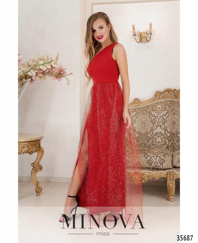 Платье №1884-красный