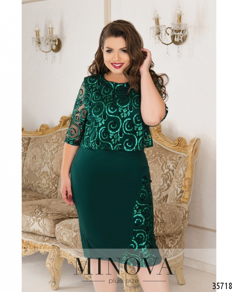 Платье №4061Б-1-зеленый_minova_1