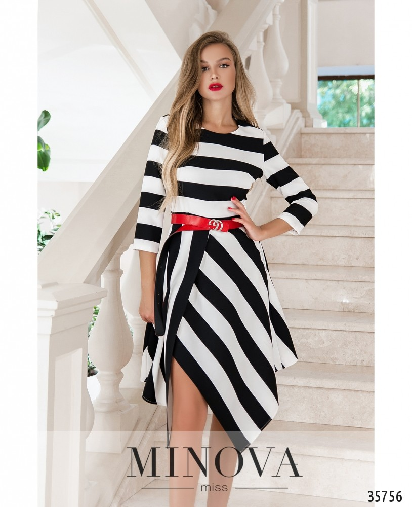 Платье №219Н-черно-белый_minova_1