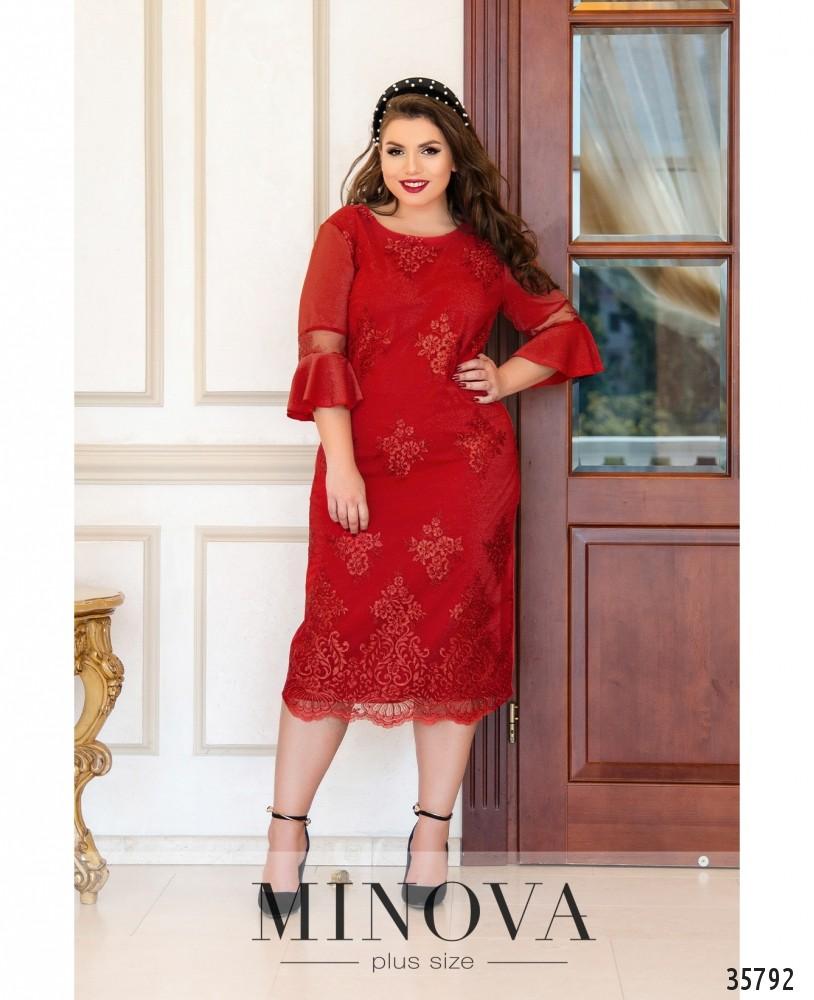 Платье №745-1-красный_minova_1