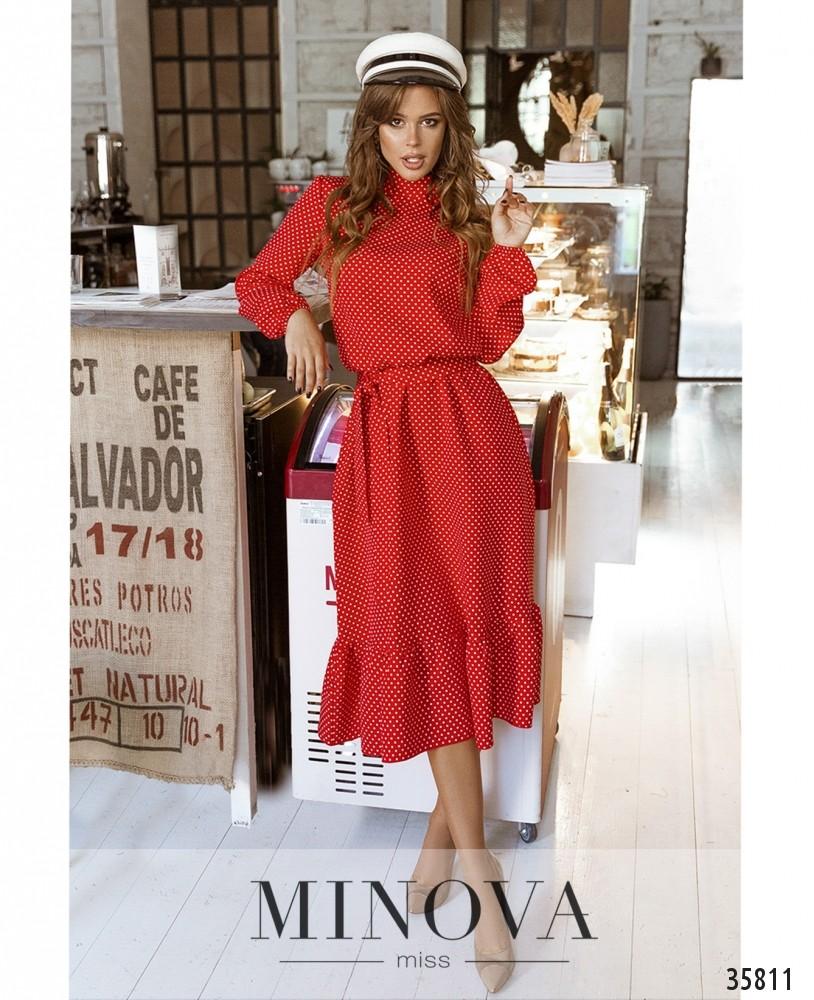 Платье №730А-красный