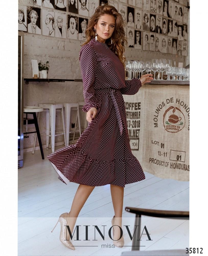 Платье №730А-бордо