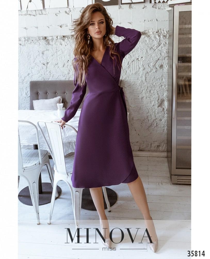 Платье №729А-1-баклажановый