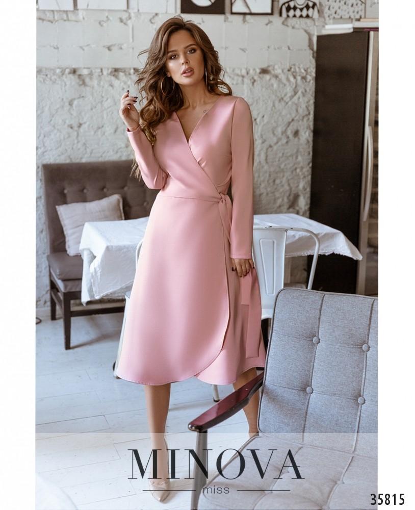 Платье №729А-1-розовый