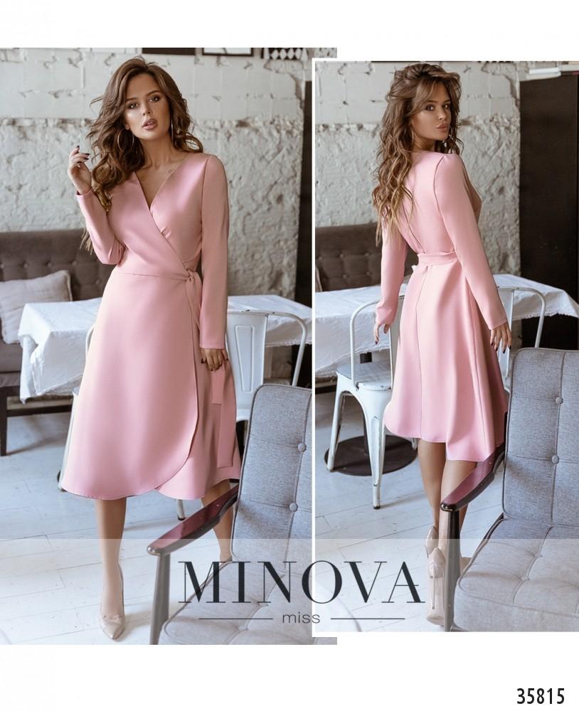 Платье №729А-1-розовый (н)
