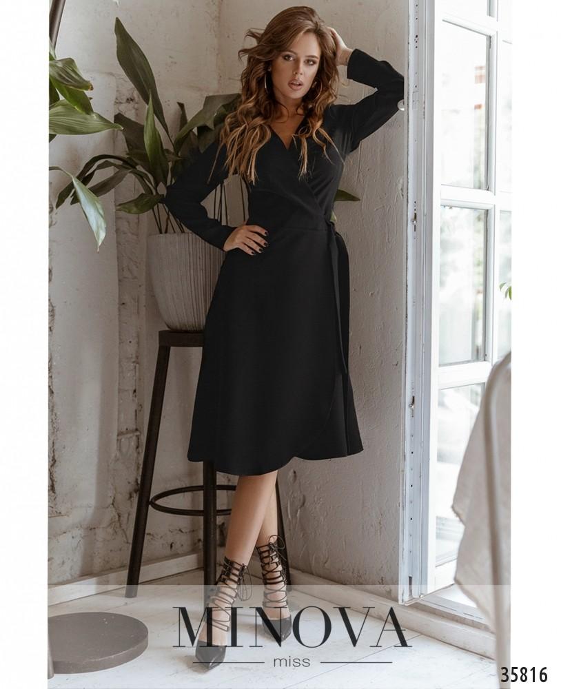 Платье №729А-1-черный