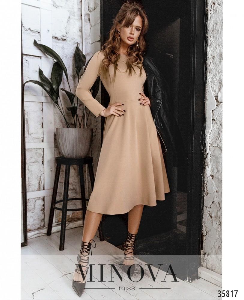Платье №728А-1-бежевый