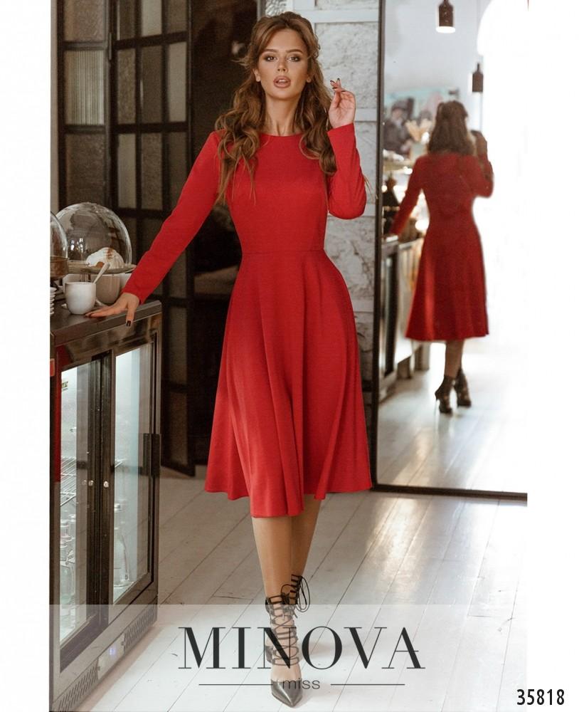 Платье №728А-1-красный