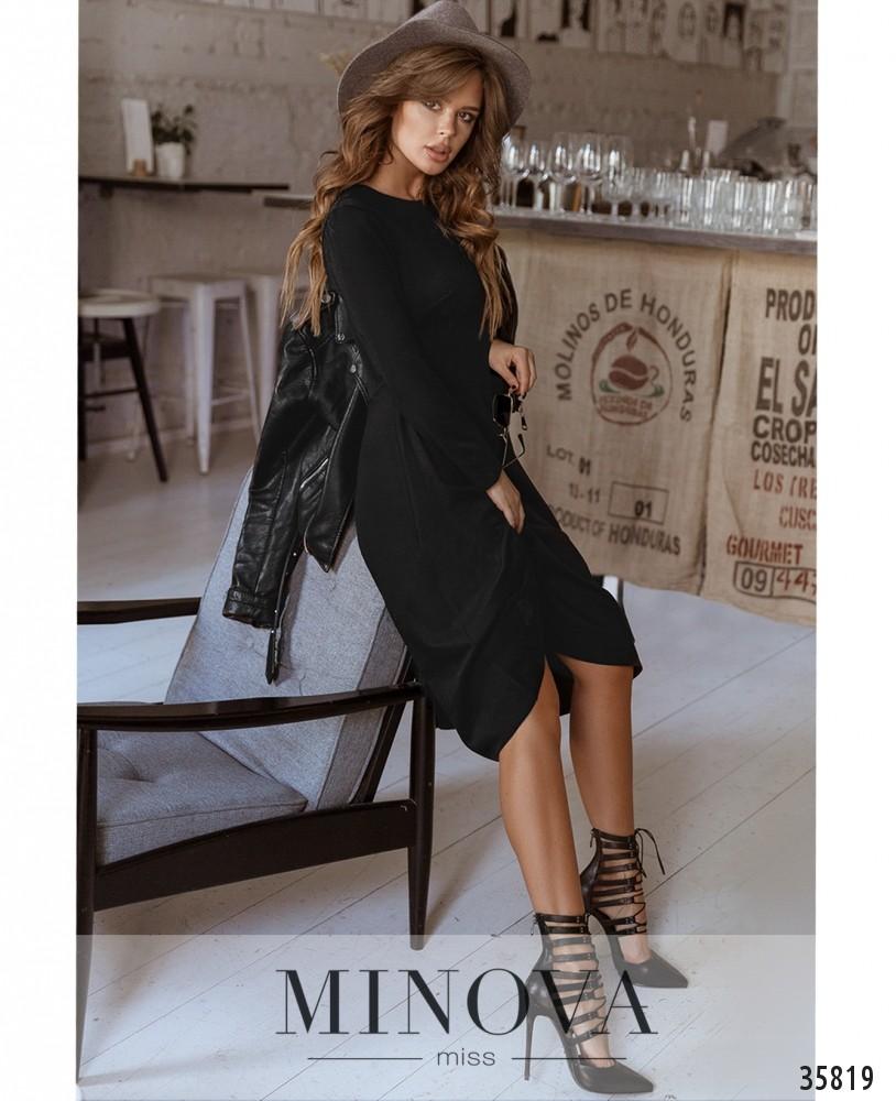 Платье №728А-1-черный