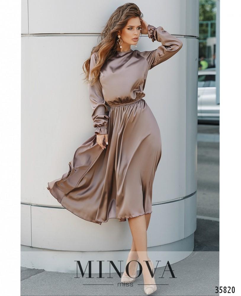 Платье №703А-капучино