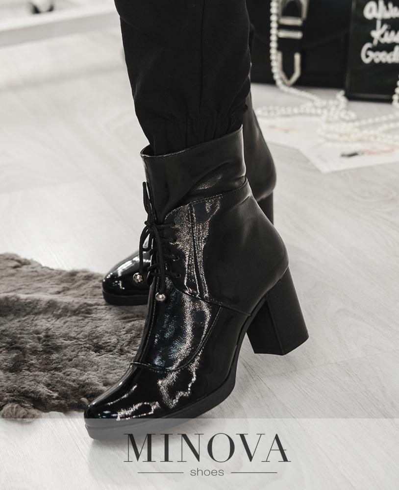 Ботинки ЦГ№2614-черный лак