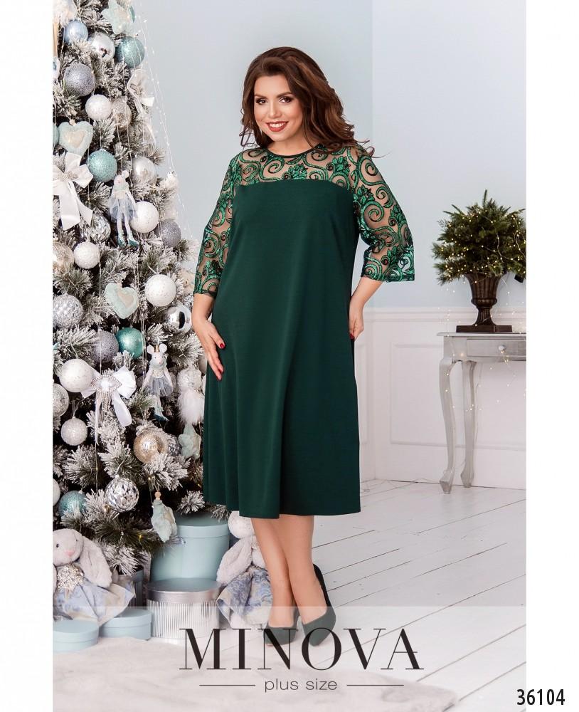 Платье №40080-1-зеленый_minova_1