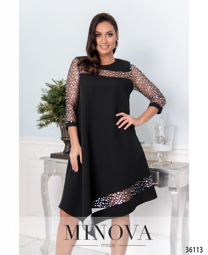 Платье №40520-1-серебро_minova_1