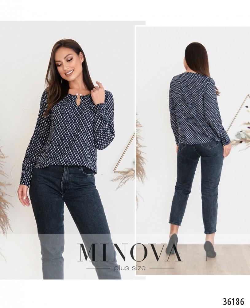 Рубашка №157-2Б-синий