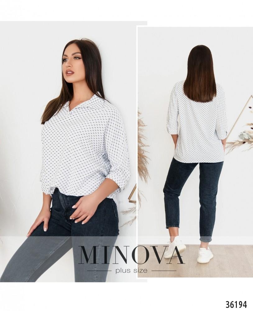 Рубашка №165-1Б-белый