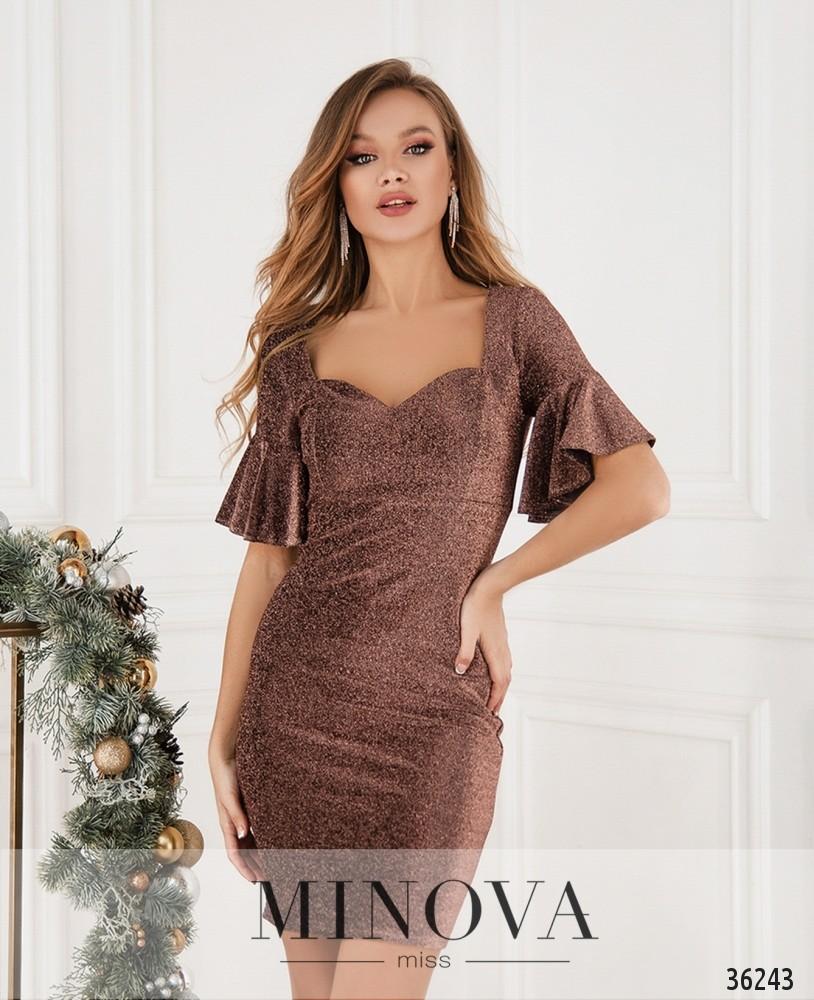 Платье №15481-шоколад_minova_2