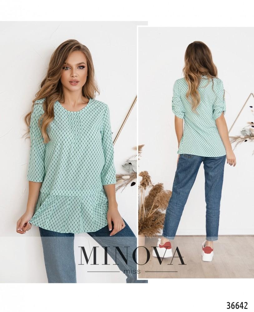 Рубашка №166-1-бирюза (н)