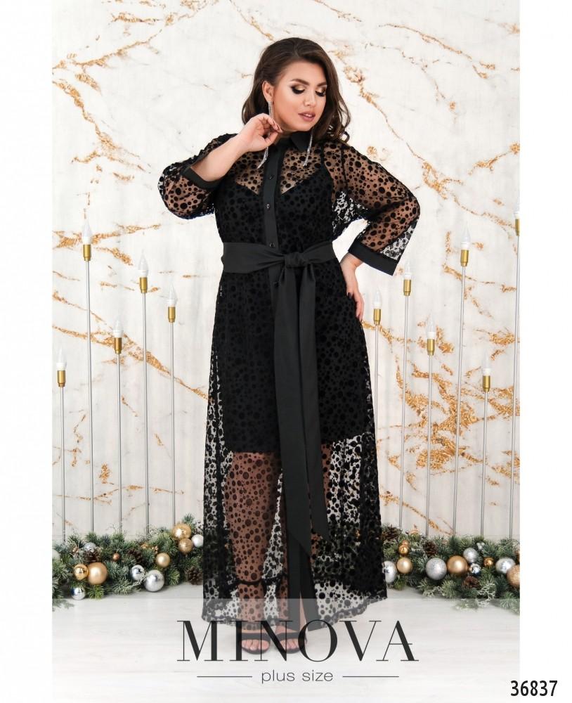 Платье №735Б-черный
