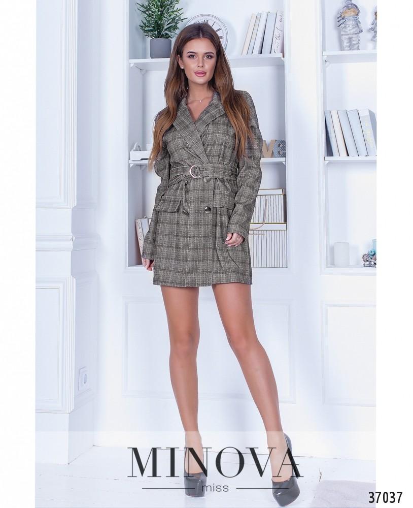 Платье №1395Н-серый