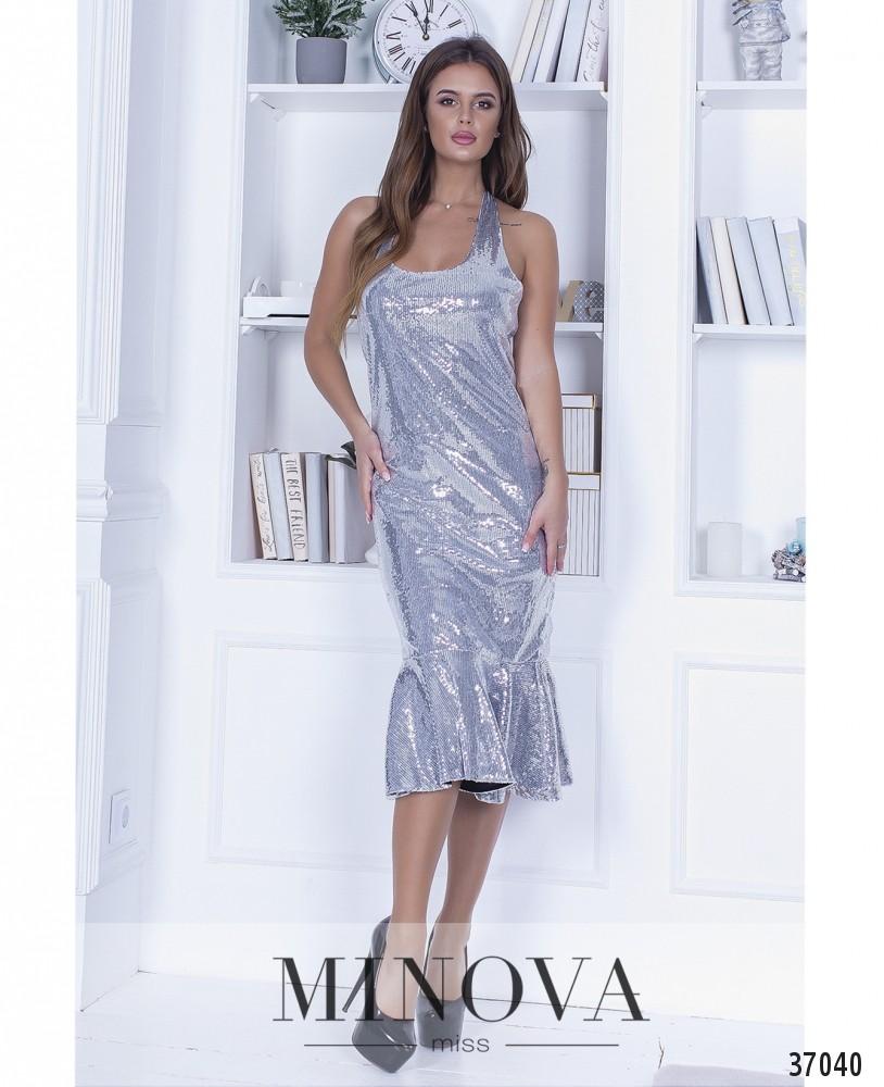 Платье №1448-серебро