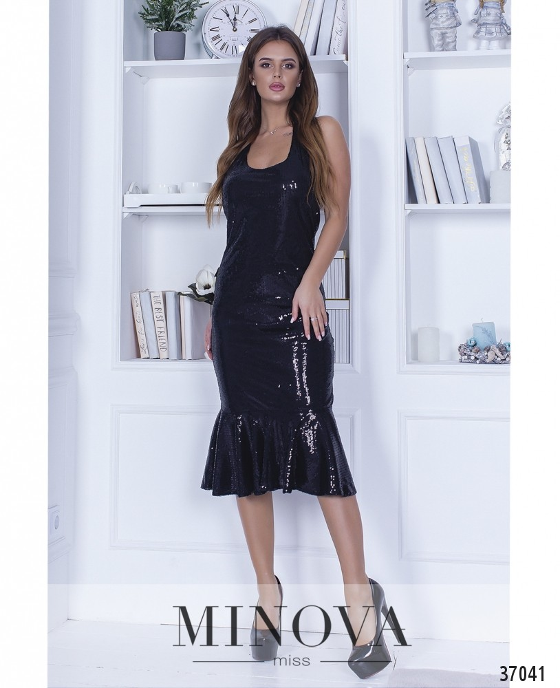 Платье №1448-черный