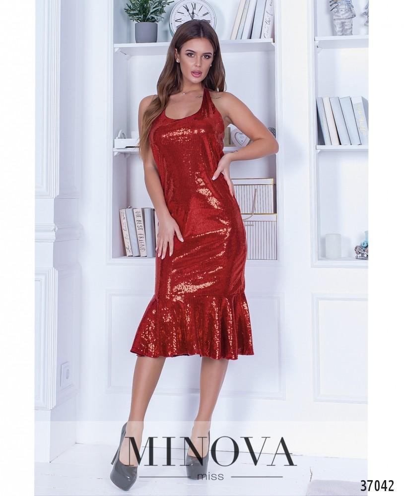 Платье №1448-красный